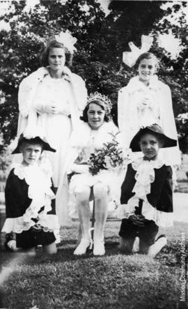 Queen Winnie and Attendants, Mission B.C. May, 1940