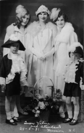 Queen Velma and Attendants, Mission B.C. May 25, 1931