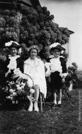 Queen Margaret and Attendants, Mission B.C. May, 1939