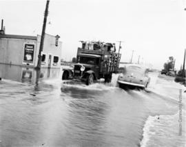 Horne Ave. 1st day water broke through - May 27th 1948 Mission City