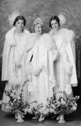 Queen Margaret and Maids, Mission B.C. May, 1935