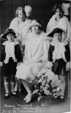Queen Muriel and Attendants, Mission B.C. May 24, 1928