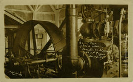 Engine Room of the A.T. Kelliher Lumber Co. Showing 400. HP. Engine Deroche BC