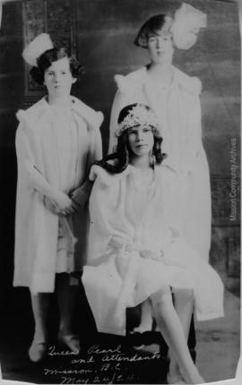 Queen Pearl and Attendants, Mission B.C. May 24, 1924