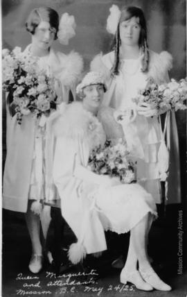 Queen Marguerite and Attendants, Mission B.C. May 24, 1925