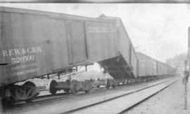 Rail cars at Mission City