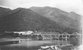 Bridge and lumber mill