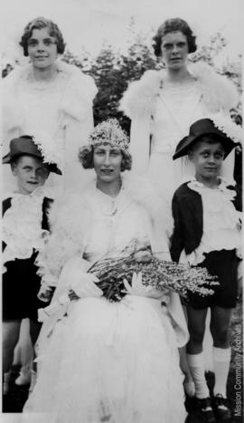 Queen Margaret and Attendants, Mission B.C. May, 1935